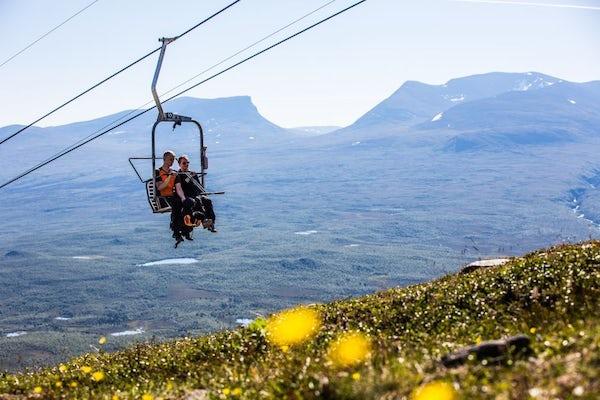 Abisko - Chair lift to Nuolja, summer