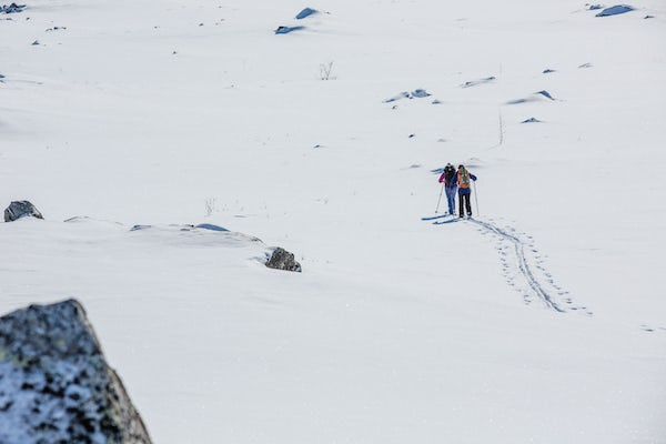 Abisko - Try out Nordic skis on Mount Nuolja