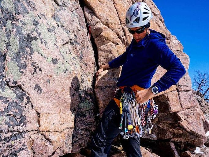 Prova på klippklättring - Kebnekaise