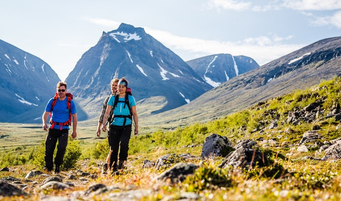 First mountain hike Saltoluokta - Kebnekaise Midnight Sun